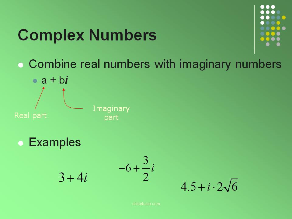 Complex Numbers - Presentation Mathematics